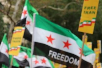 The 'Free Syrian & Iran_ Rally2